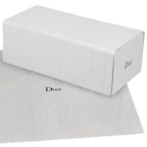 DIOR WHITE LEATHER SUNGLASSES MEDIUM CASE